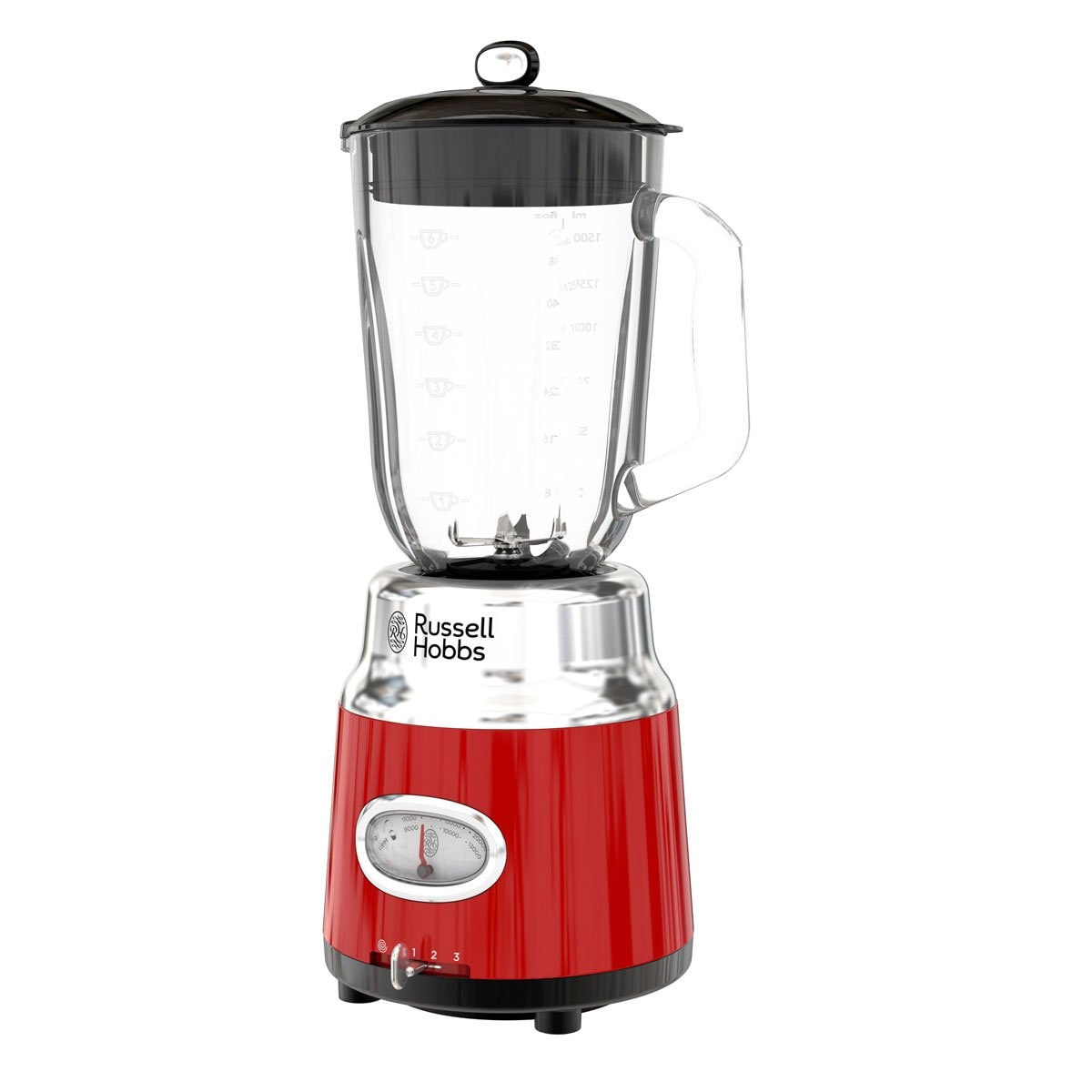 Licuadora Roja Retro Style Bl3100Rdr Russell Hobbs