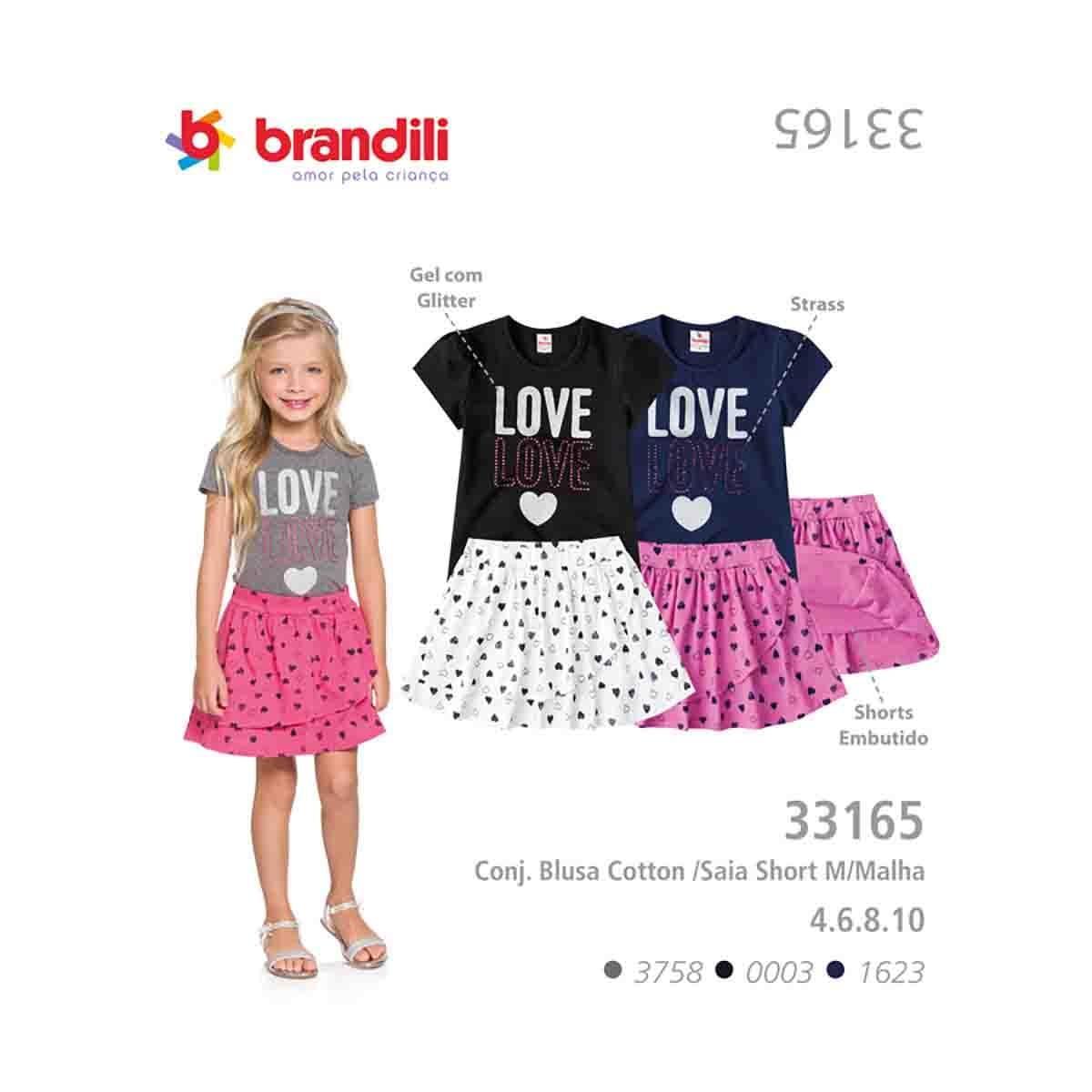 Conjunto  Falda Short Brandili