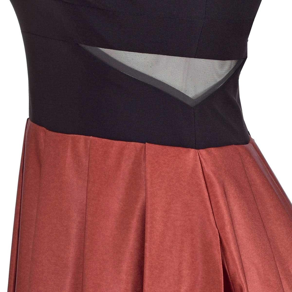 Vestido de Fiesta Largo Escote V Falda Estampada