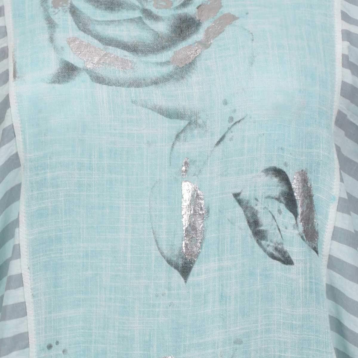 Blusa para Dama Cuello Redondo Estampada Studio si
