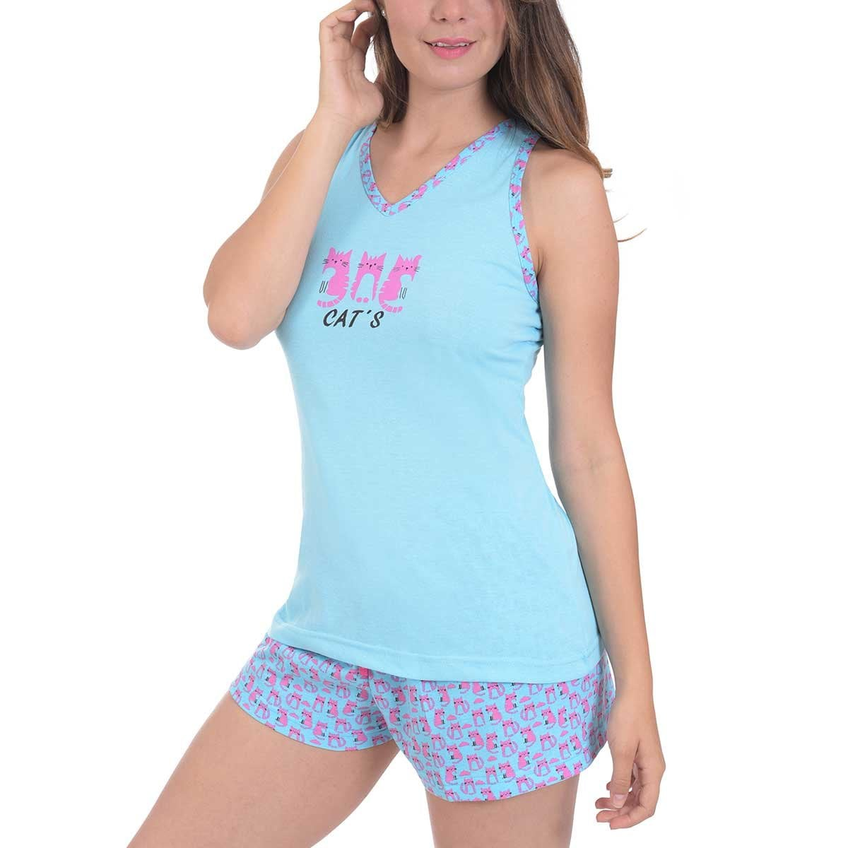 Pijama Sin Mangas Y Short Sugar & Milk
