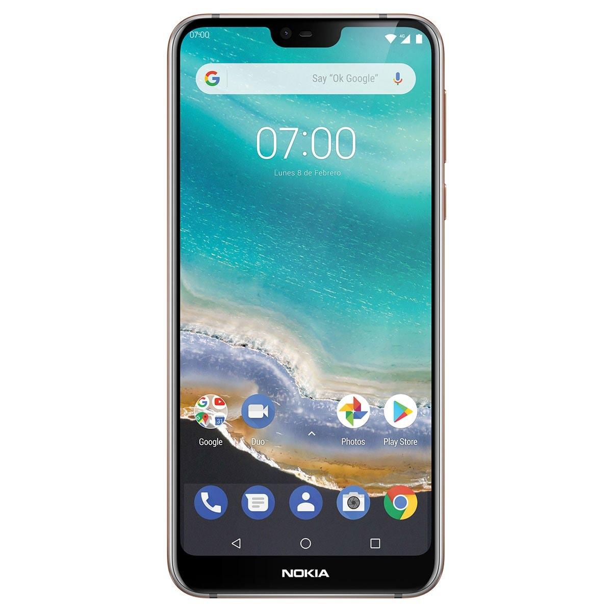 Celular Nokia 7.1 1096 Color Gris R9 (Telcel)