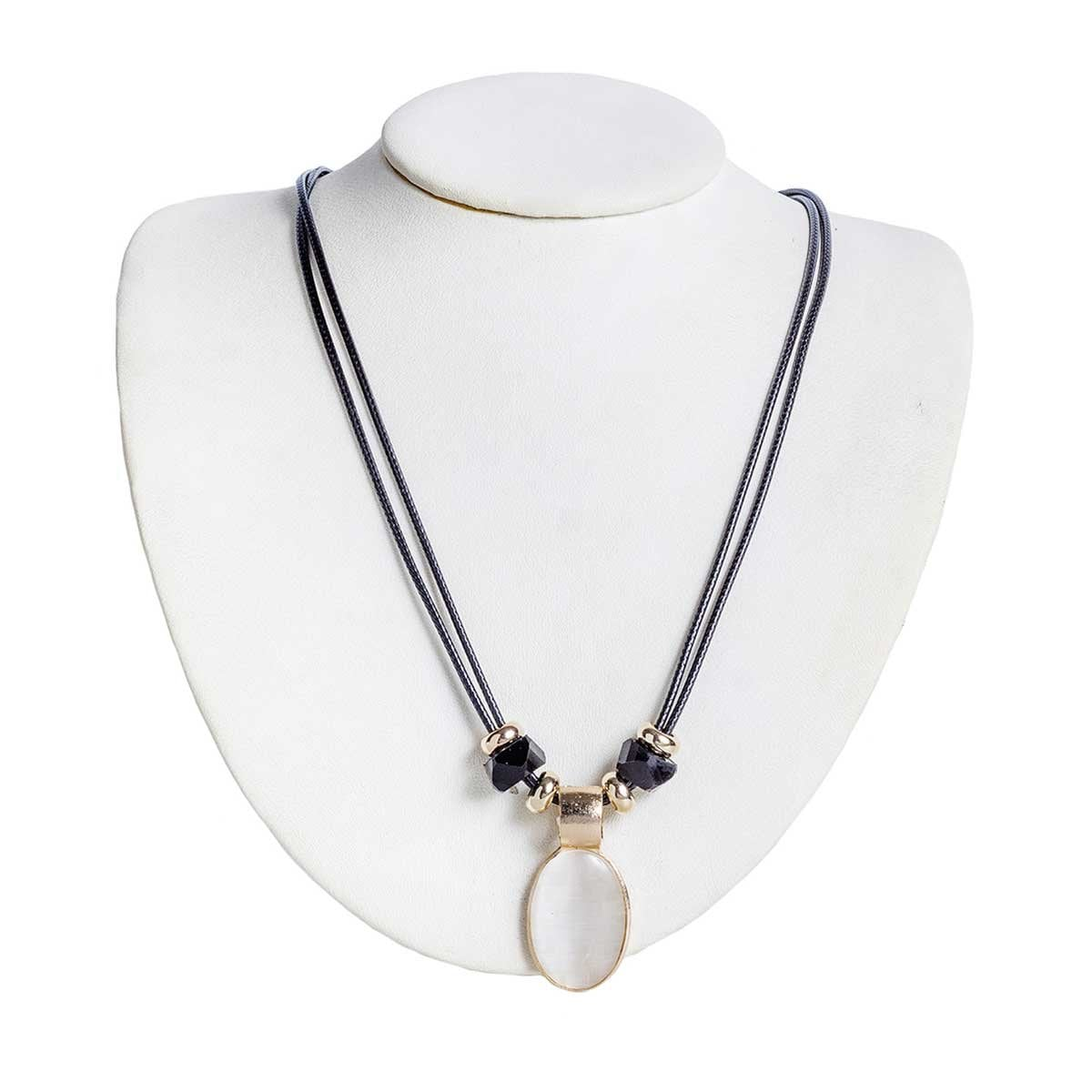 Collar Set Ovalo Cristal Mate Wonder Charms