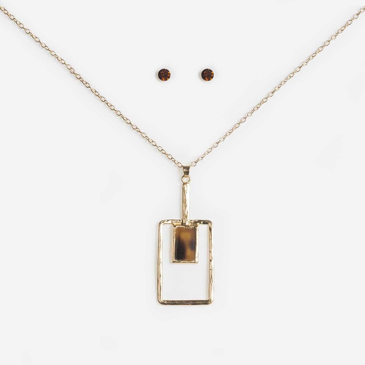 Collar Set Dorado Figuras Geométricas Wonder Charms