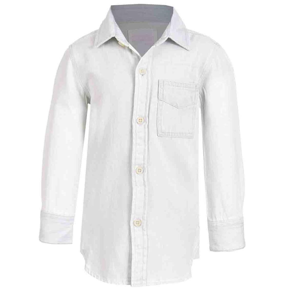 Camisa Manga Larga Mezclilla para Niño