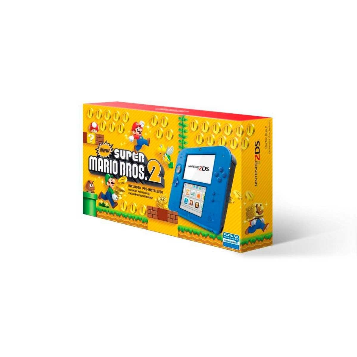 Consola 2Ds Electric Blue New Super Mario Bros 2 Nintendo