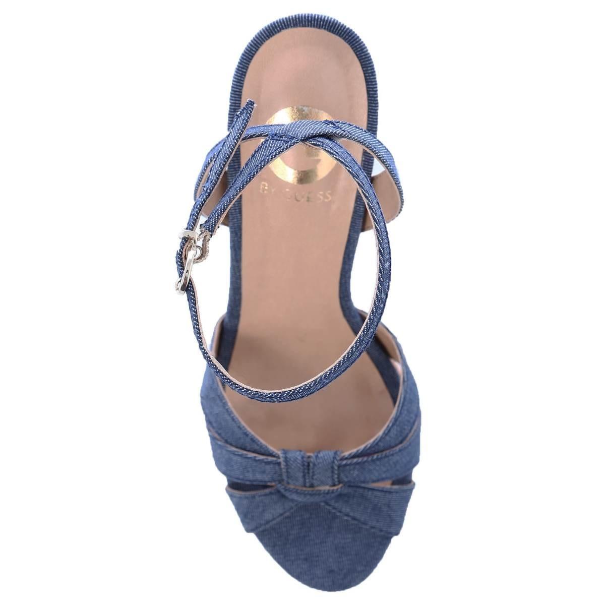 Sandalia Stiletto Azul G By Guess