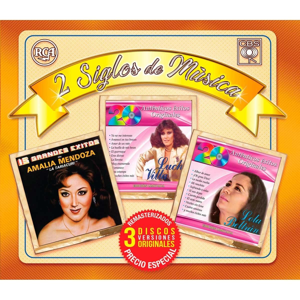 3 Cds Lucha Villa, Amalia Mendoza y  Lola Beltrán