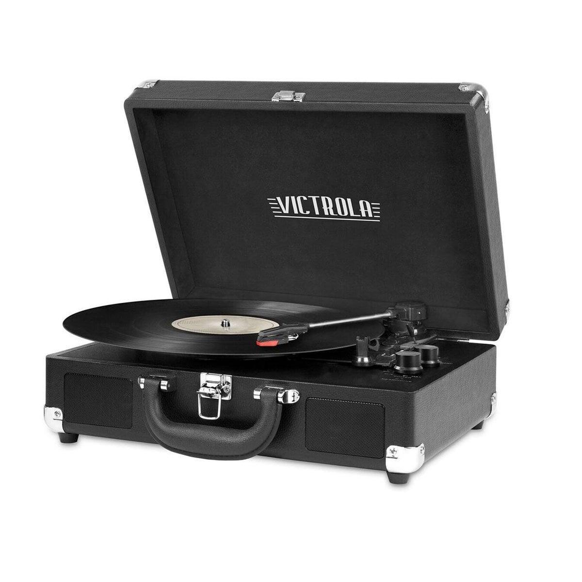 Reproductor Discos de Maleta Negro Victrola