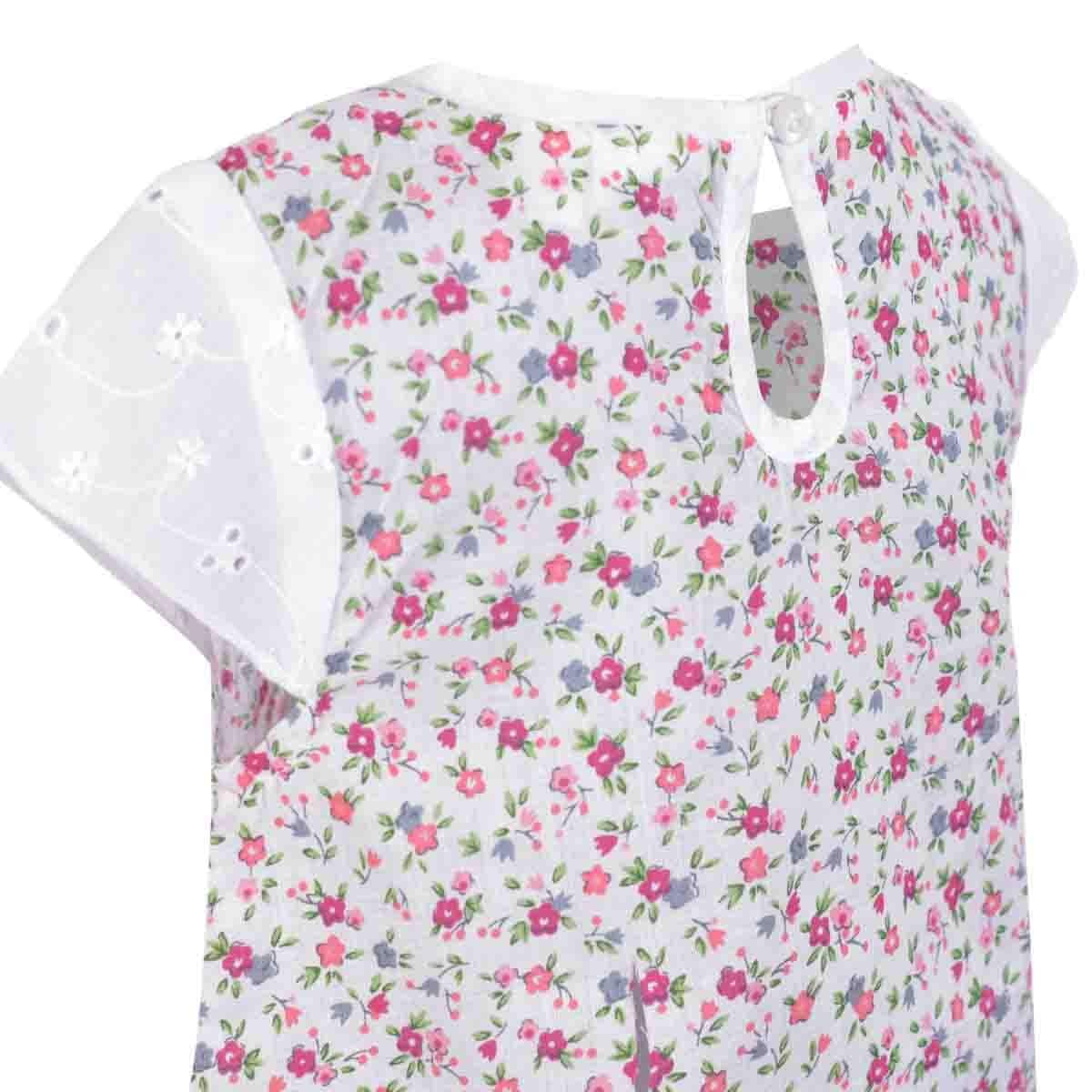 Blusa Manga Corta Estampada Flores Carosello Ver18-46