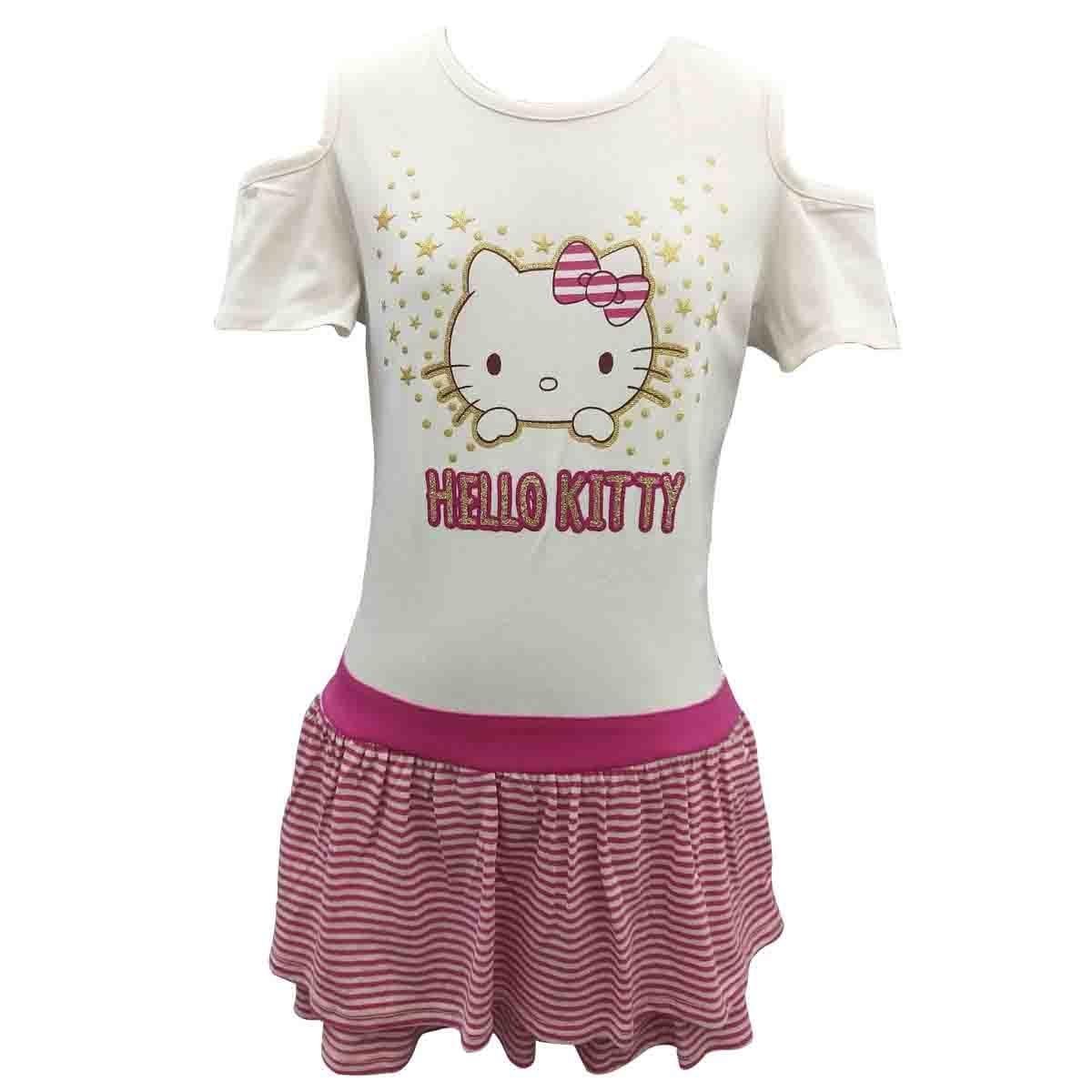 Vestido Manga Corta Estampado Hello Kitty