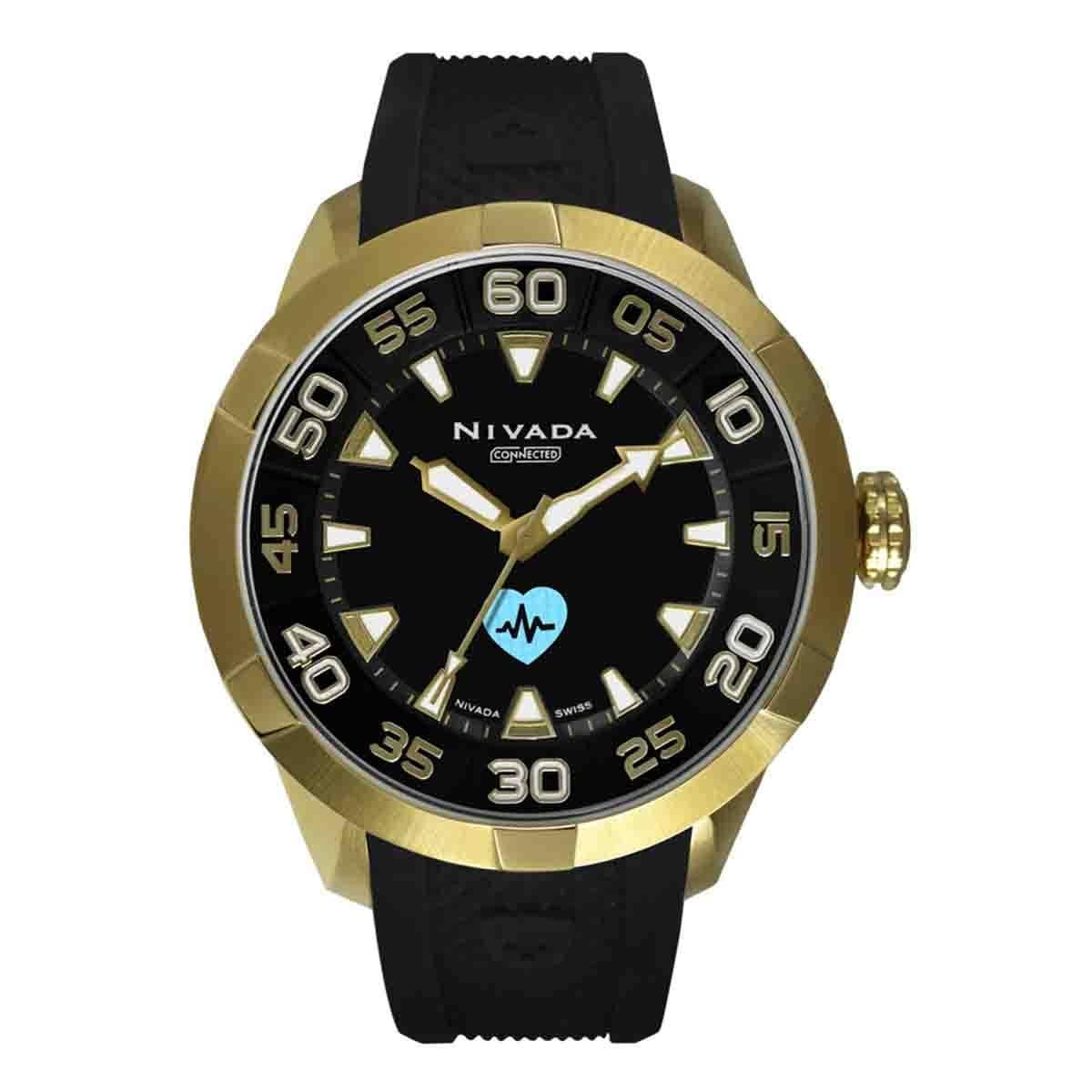 Reloj Unisex Color Negro y Dorado Nivada