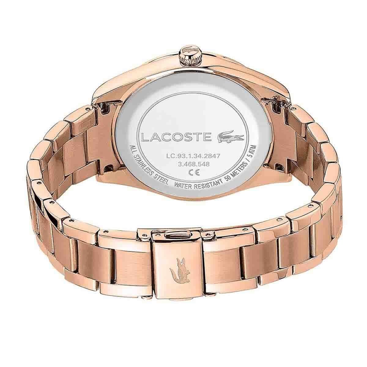 Reloj para Dama Parisienne Color Oro Lacoste