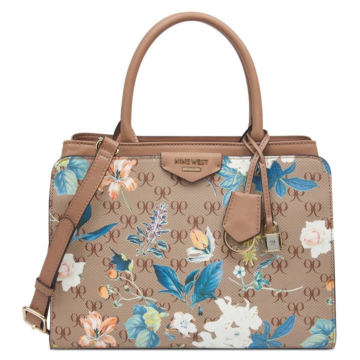 Tote Multicolor con Aplicación en Metal Nine West
