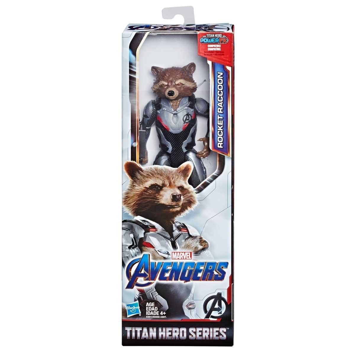 Figura Titan Hero Avengers Endgame Rocket Racoon Hasbro