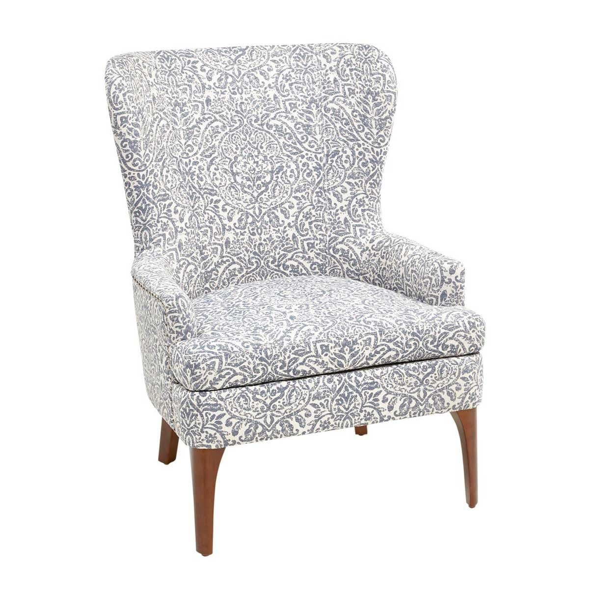 Sillón Indigo Damask Wing Austin Collection Pier 1 Imports