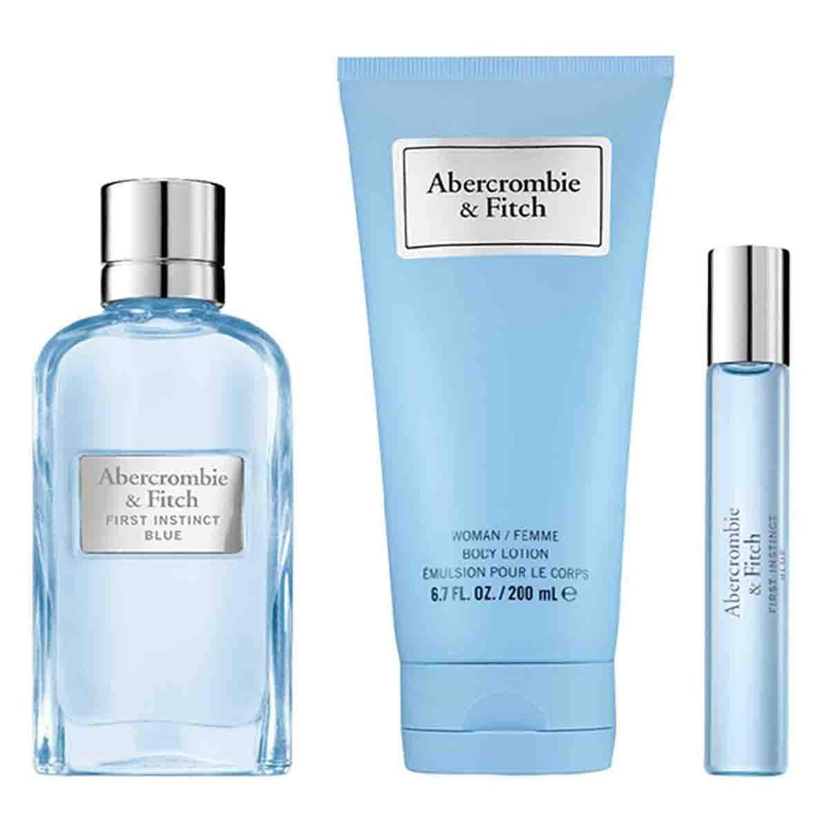 Estuche para Dama Abercrombie & Fitch First Instinct Blue Women Edp 100 Ml