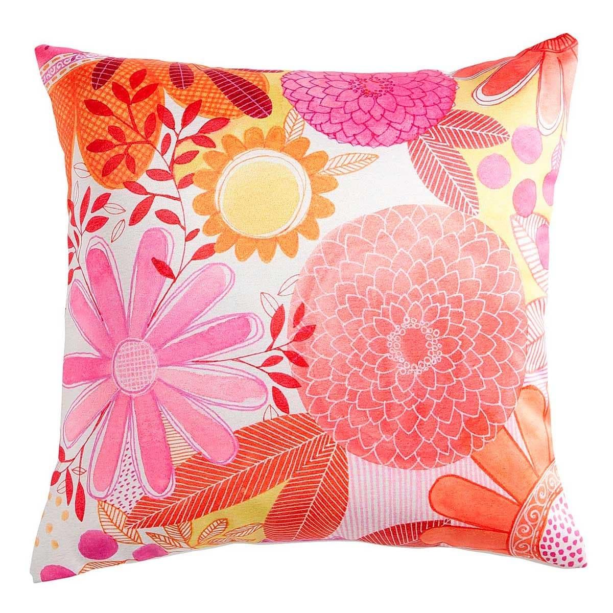 Cojín Orange & Pink Sunflowers Pier 1 Imports