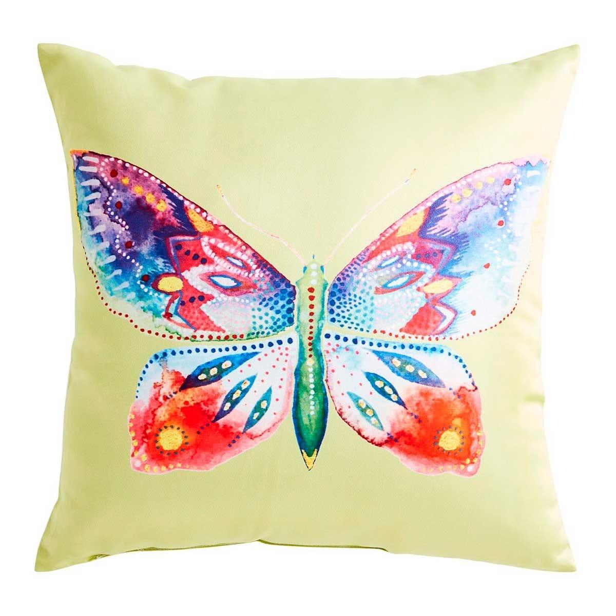 Cojín Butterfly On Faux Silk Pier 1 Imports