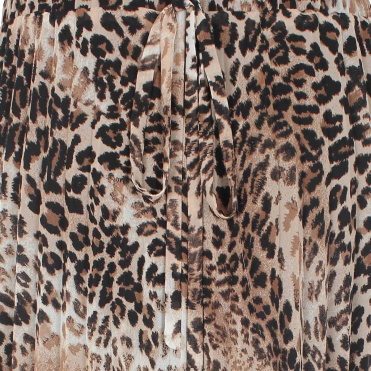 Falda  Estampada Animal Print Plisada City Femme