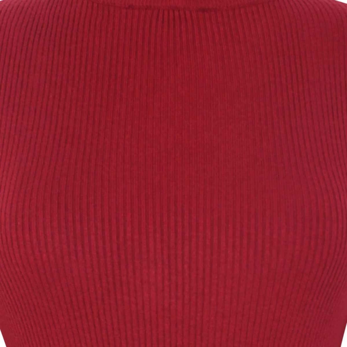 Suéter Rojo de Manga Larga Elle