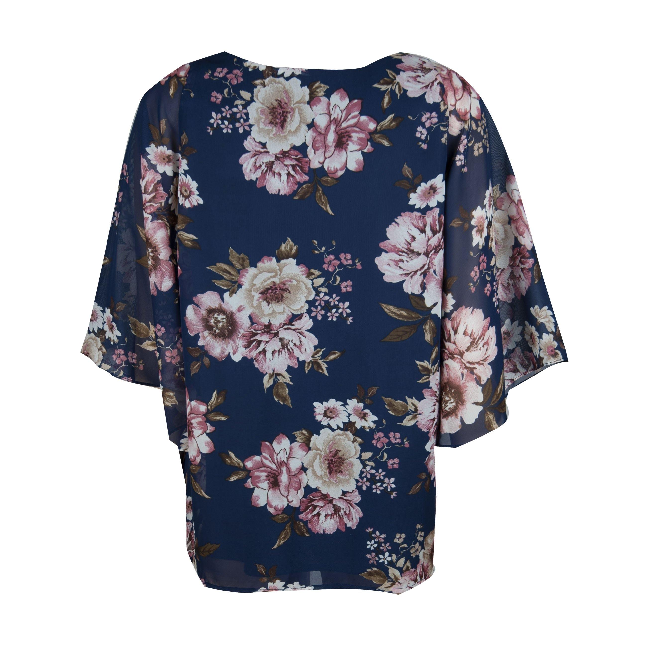 Blusa para Dama Estampada Blanca Davinchy