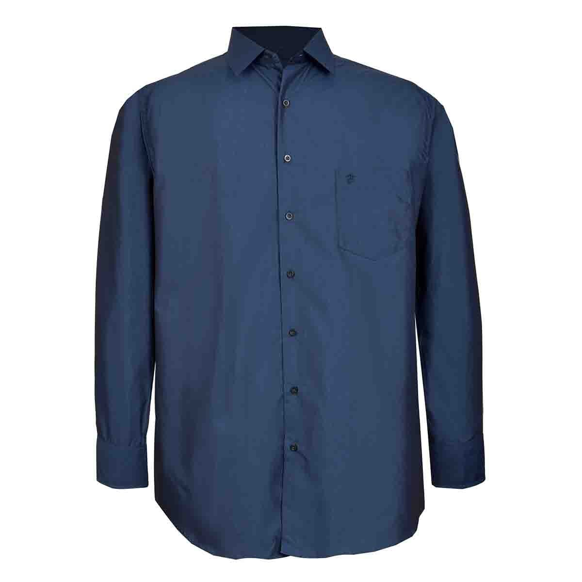 Camisa Manga Larga Tornasol Marino John Henry