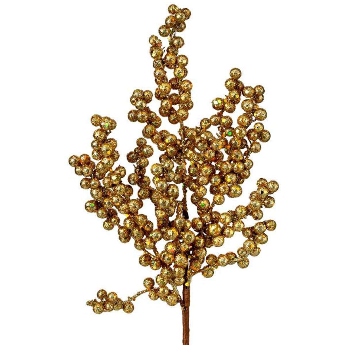 Rama Racimo de Berries Color Oro 40 Cm.