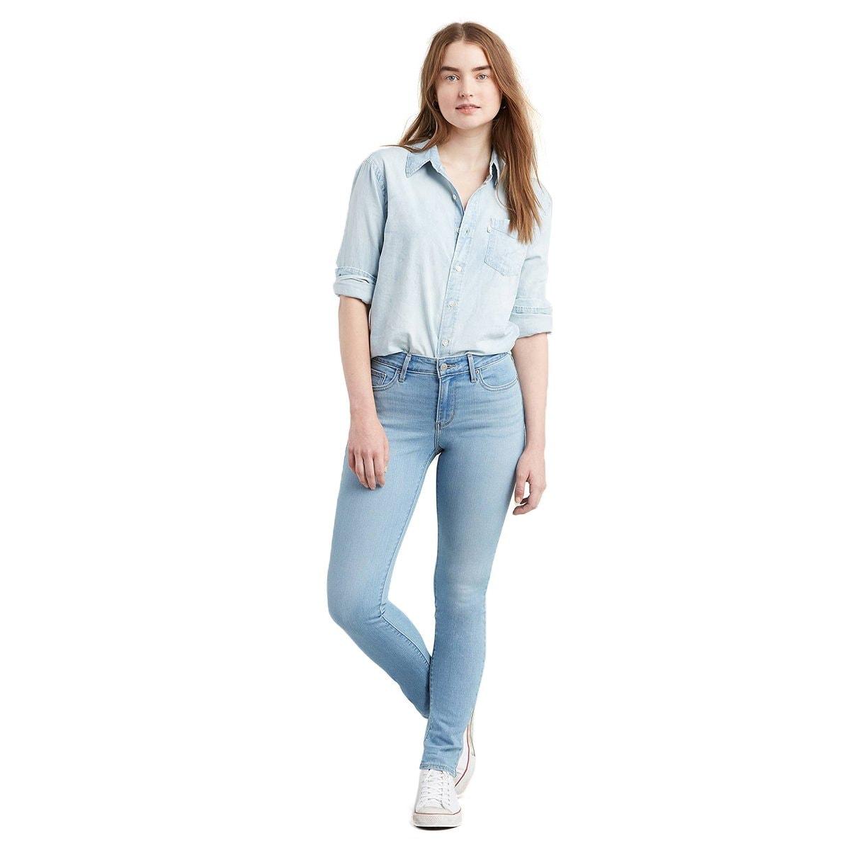 Jeans Skinny Cintura Media Levis