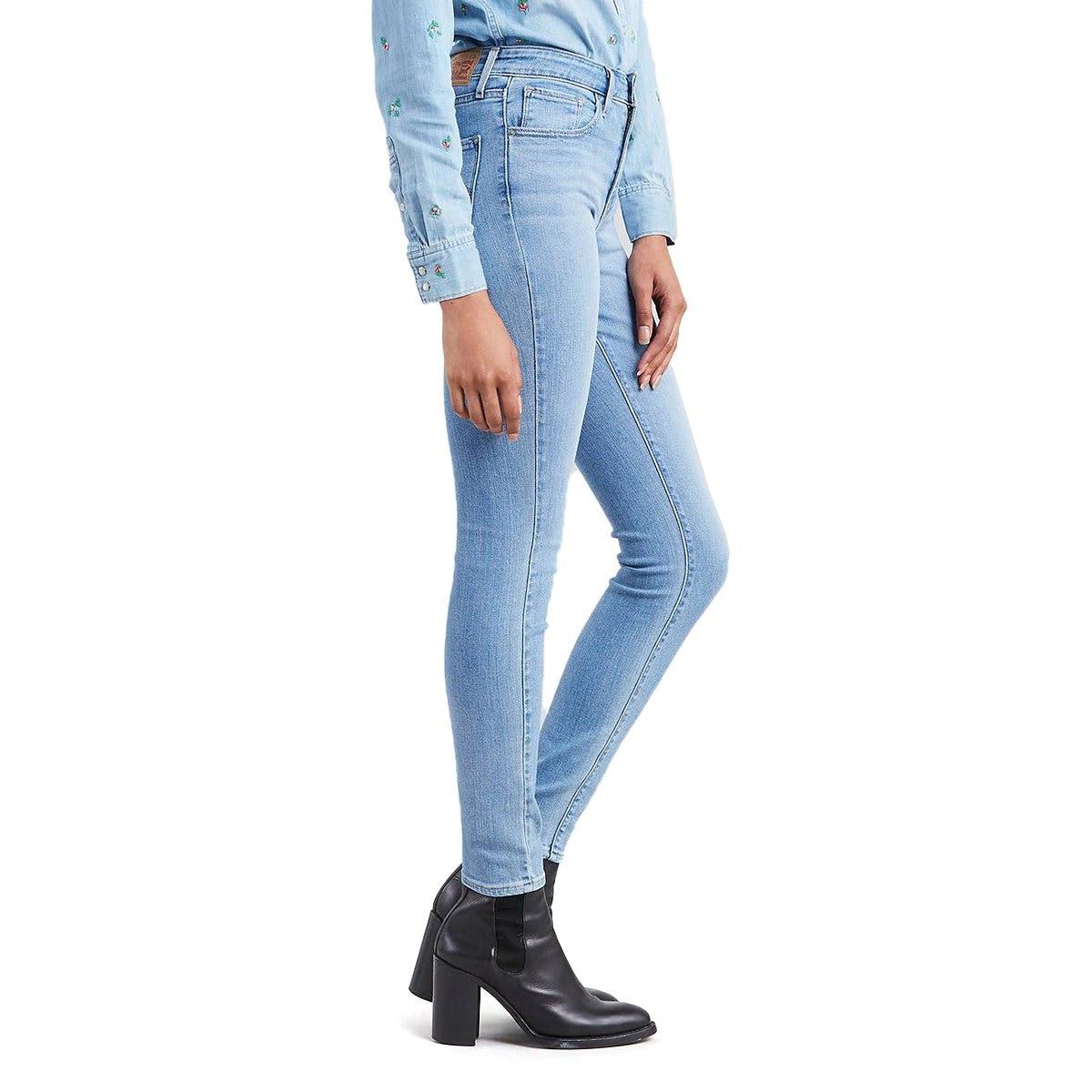 Jeans Skinny Cintura Alta Levis