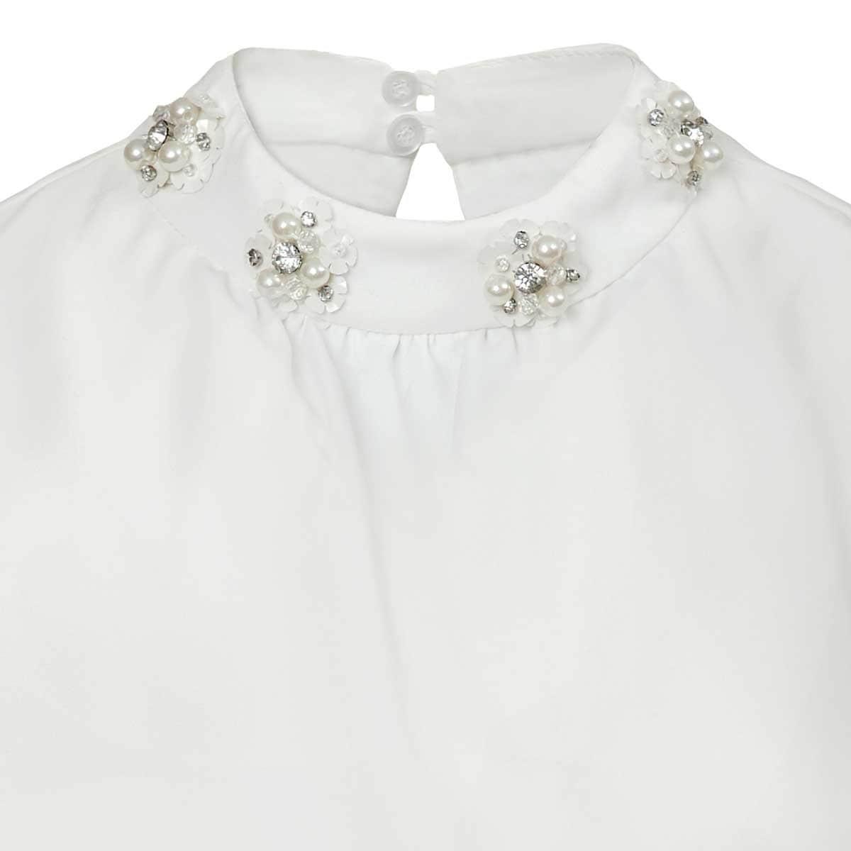 Blusa Perlas en Cuello Ann Miller