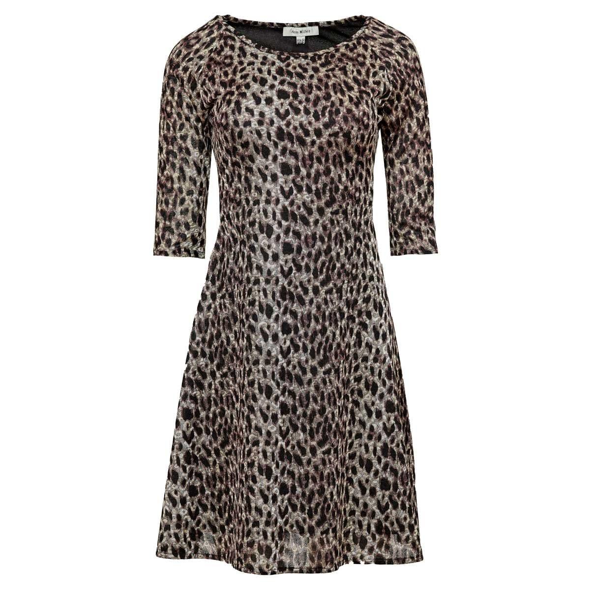 Vestido Animal Print Ann Miller