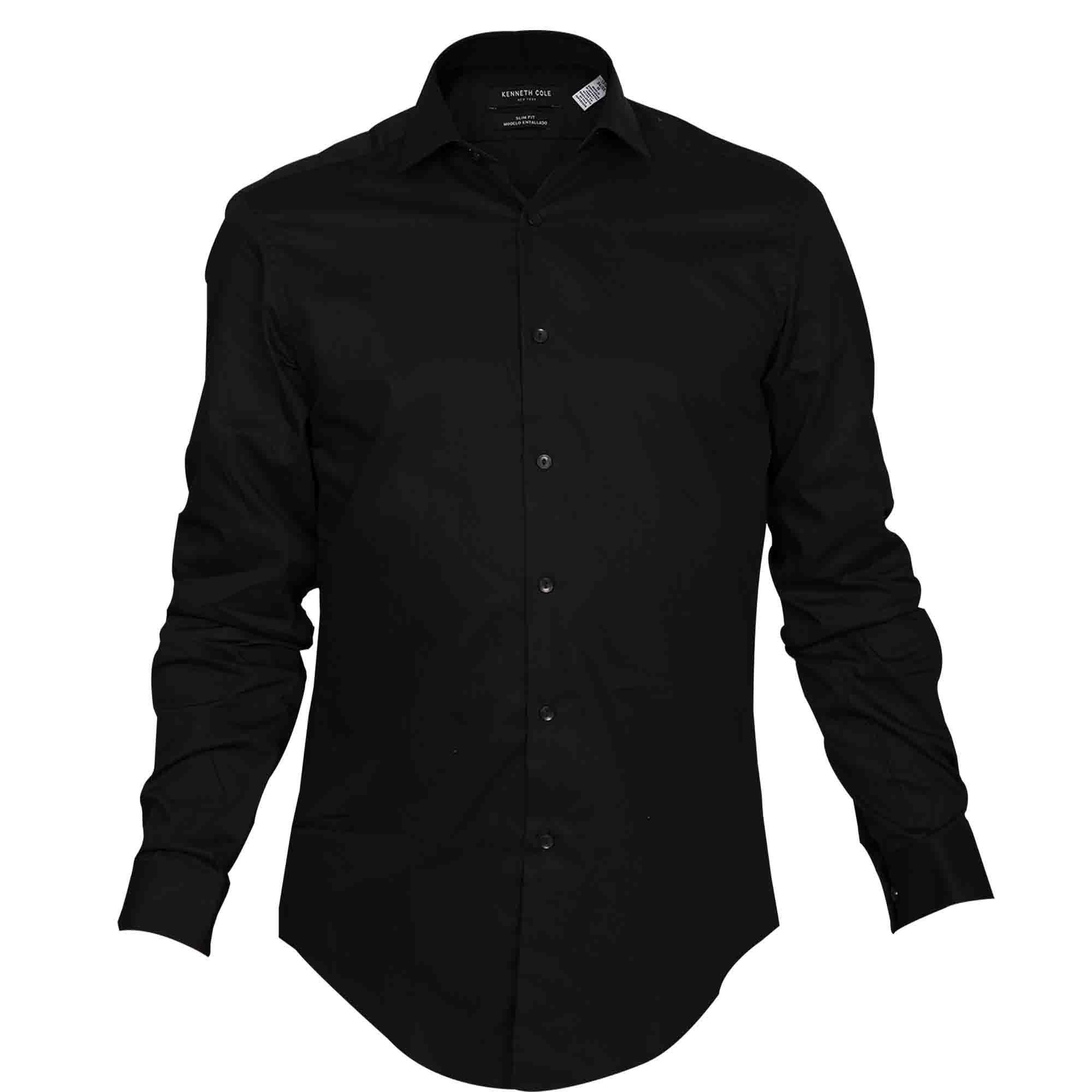 Camisa de Vestir Negra Kenneth Cole