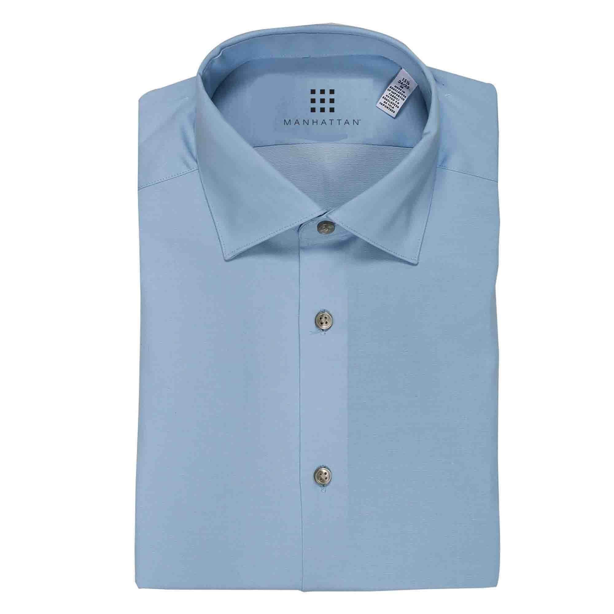Camisa de Vestir Azul Manhattan
