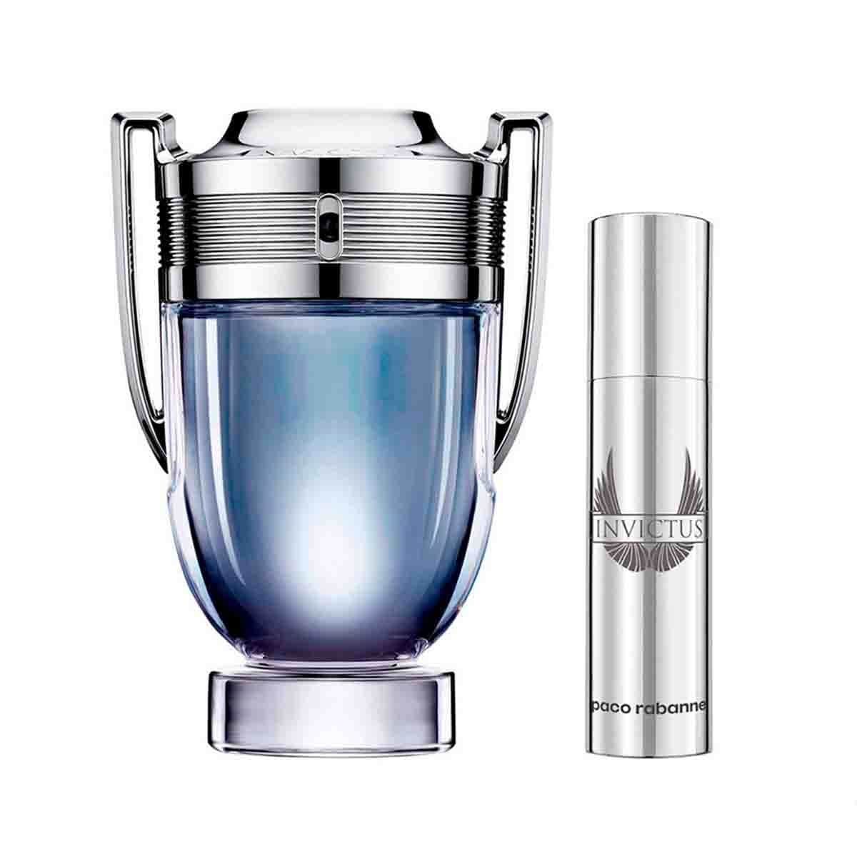 Fragancia para Caballero Paco Rabanne Invictus Xmas Collector Edt 100 Ml + Travel Spray