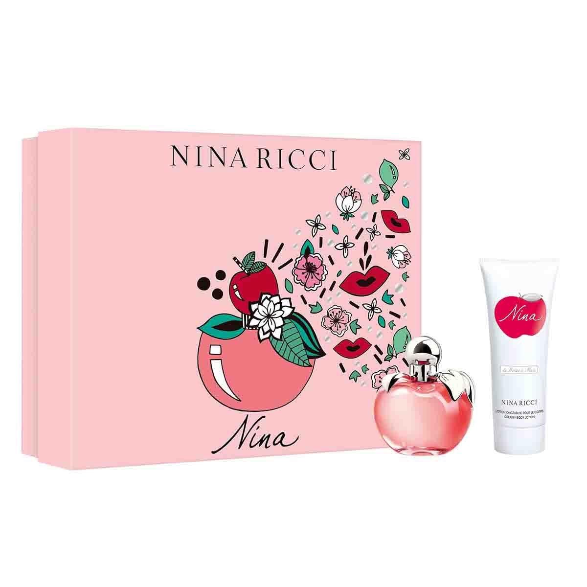 Estuche para Dama Nina Ricci Nina Edt 80 Ml + Body Lotion 100 Ml