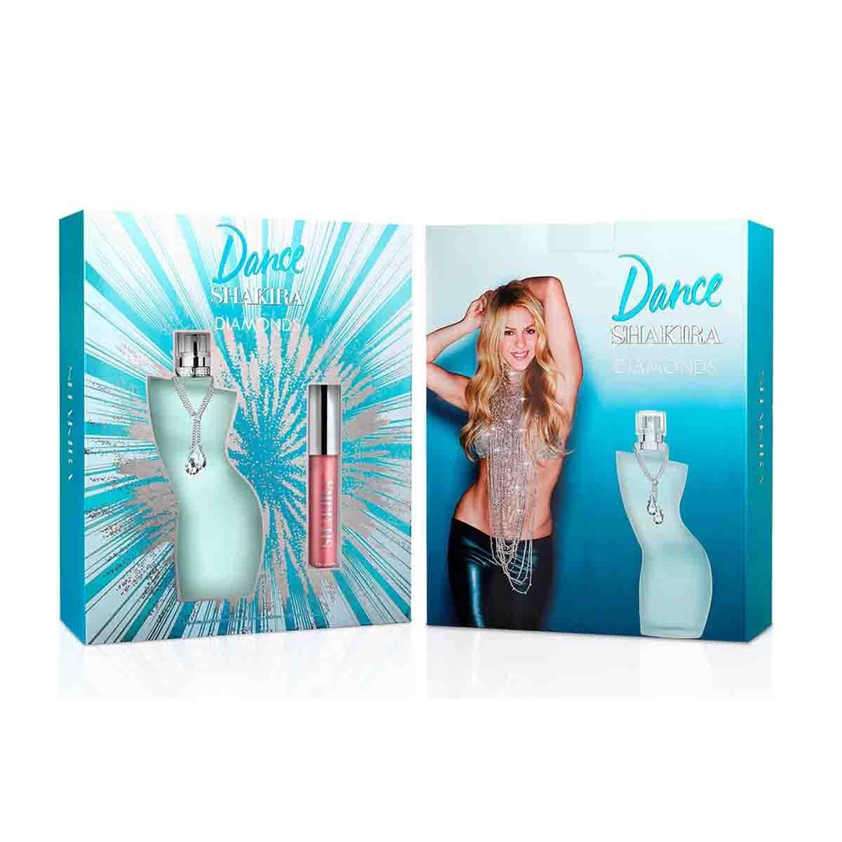 Estuche para Dama Shakira Dance Diamonds Edt 80 Ml + Lip Gloss