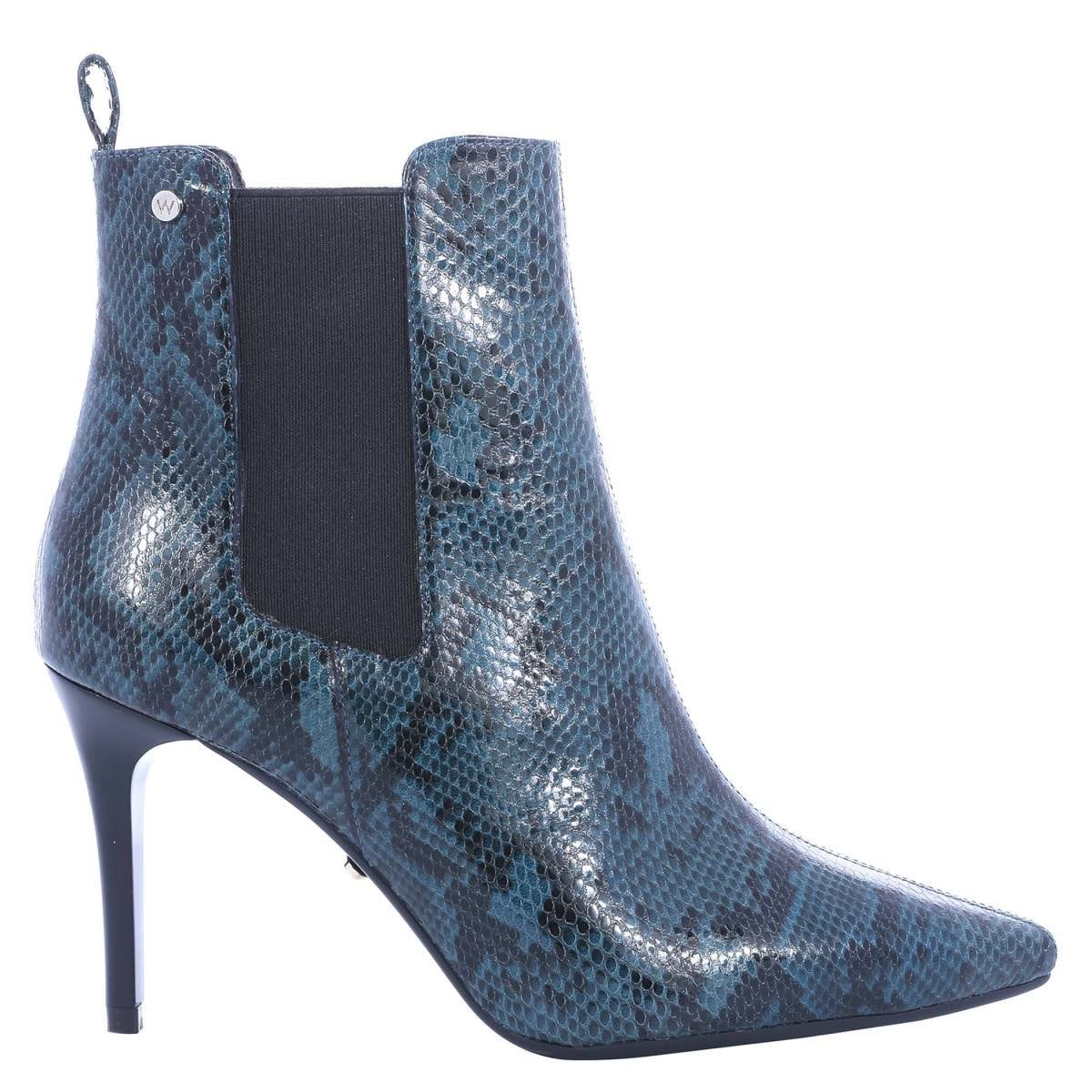 Botines Stiletto Color Azul Westies
