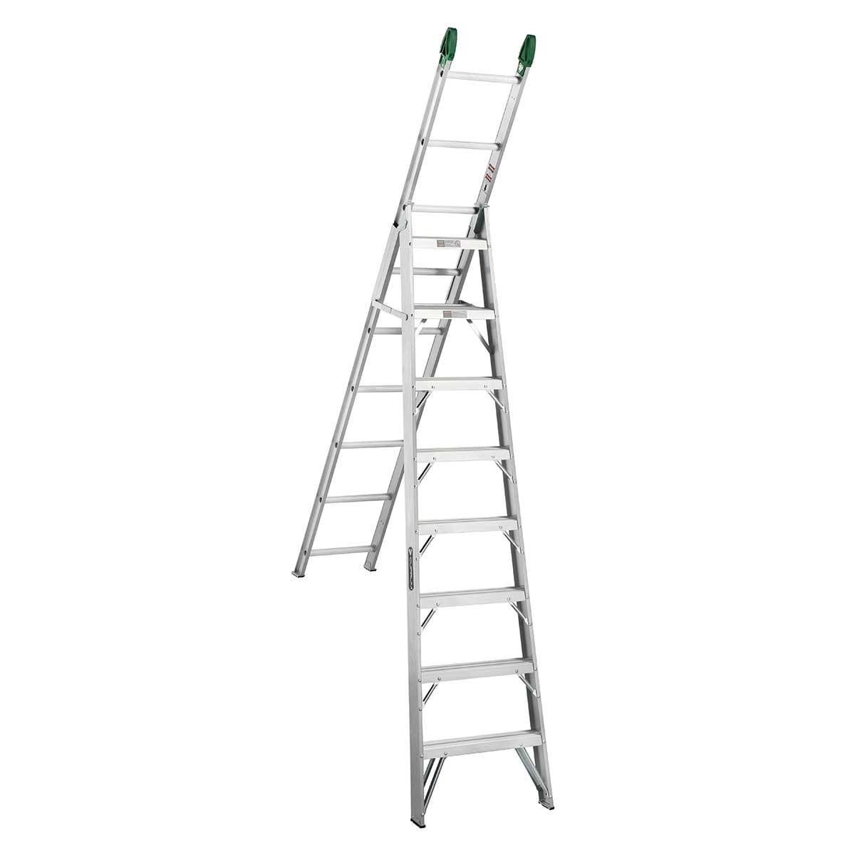 Escalera Convertible de Aluminio (17 Escalones) Cuprum C-2287-17