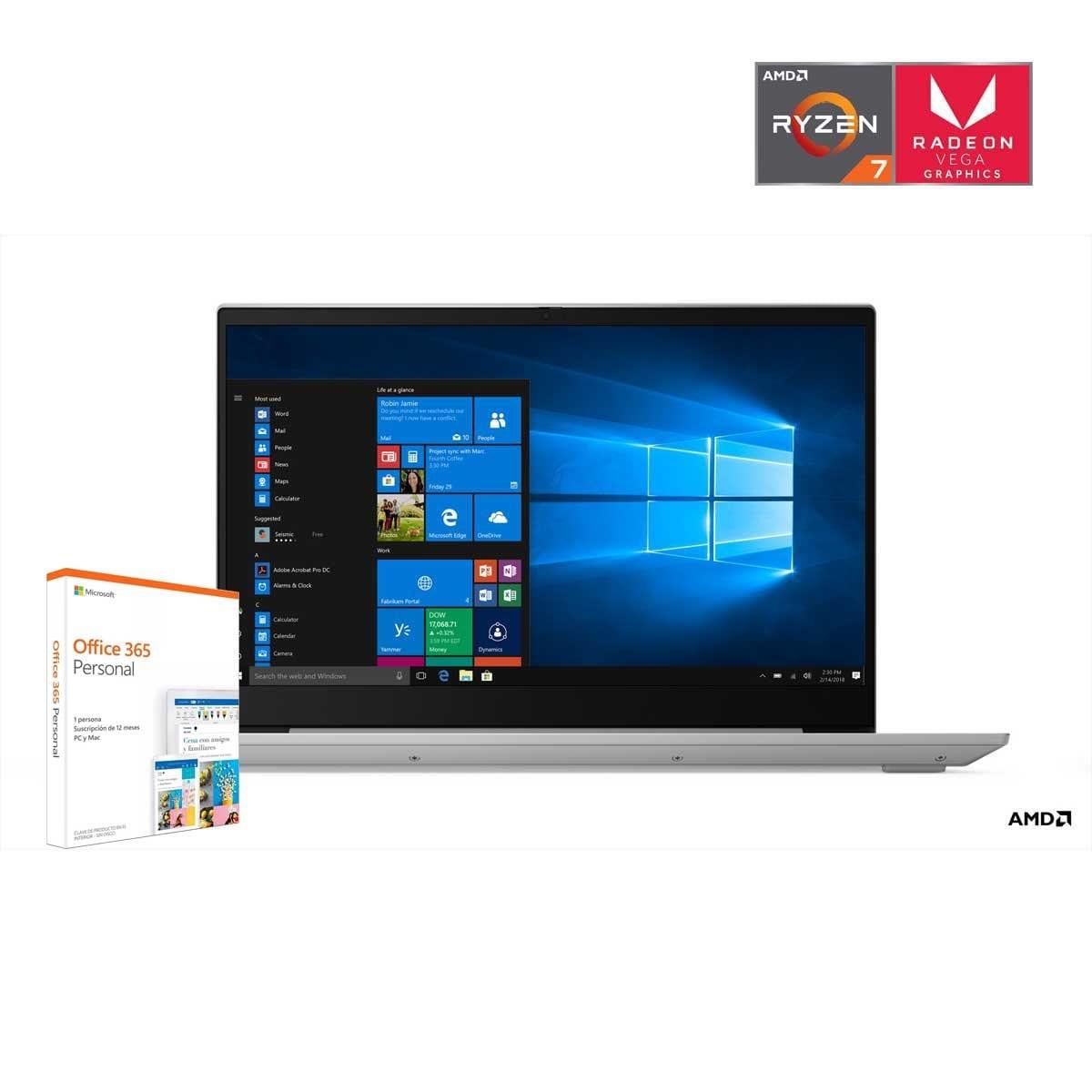 Paquete Laptop Lenovo S340-15Api+ Office 365 Personal