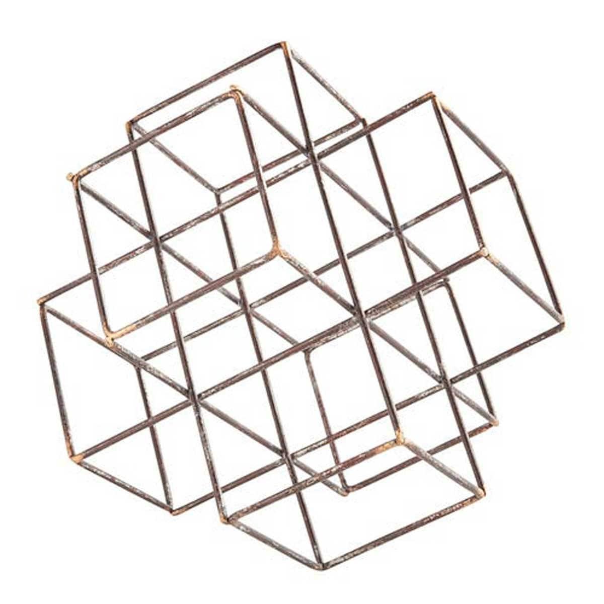 Escultura de Metal Cube Pier 1 Imports