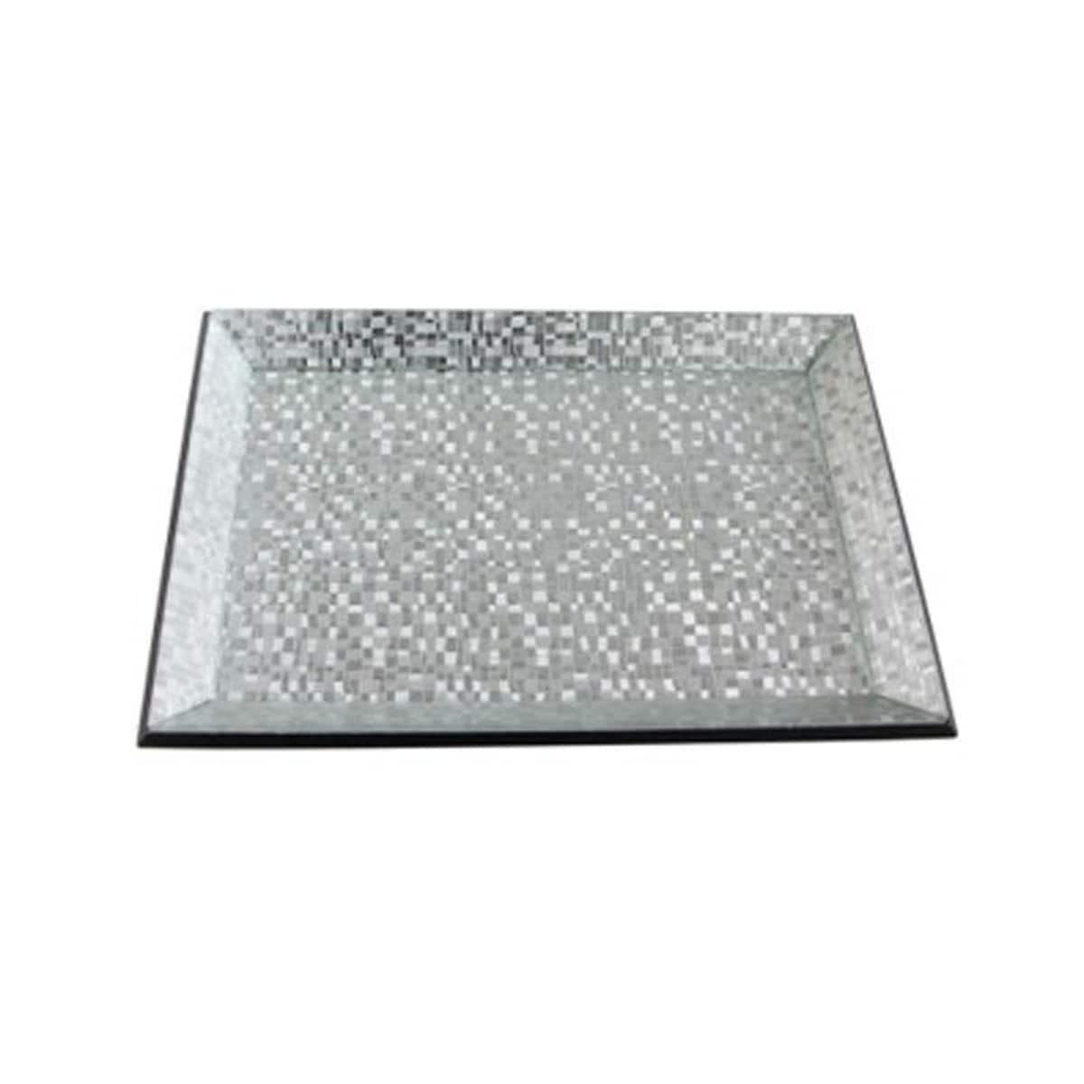 Charola Diseño Plata Espejo 15X10 Precious Home