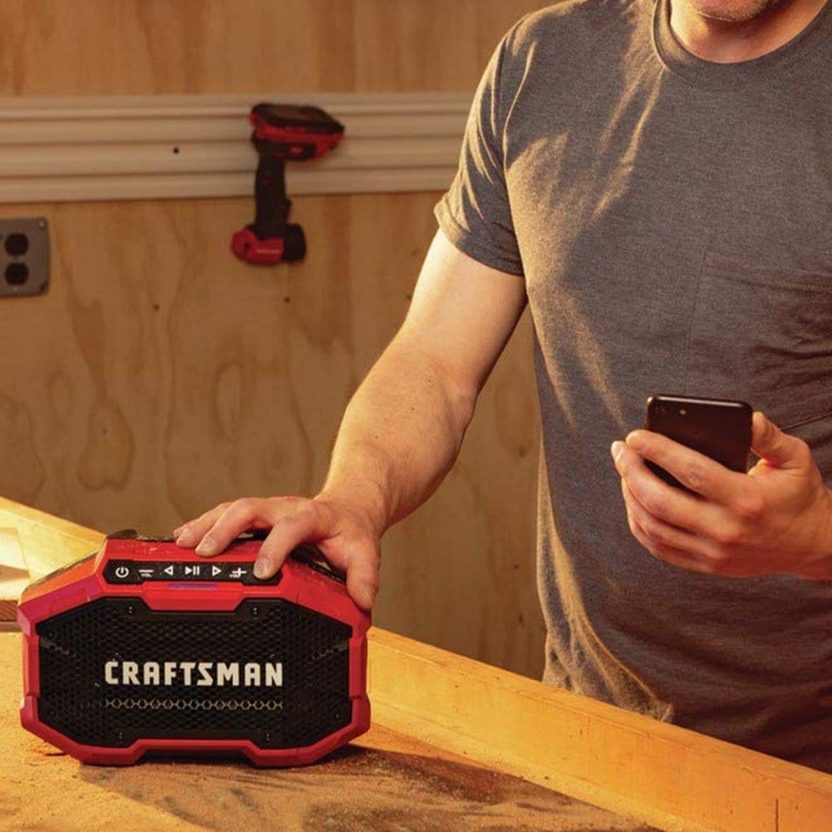 Bocina Bluetooth Inalámbrica para Taller Craftsman