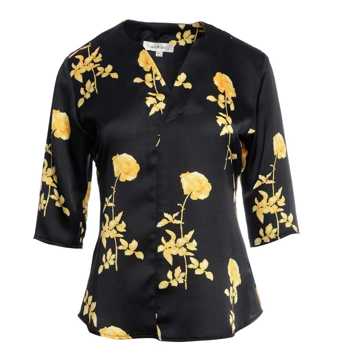 Blusa con Estampado de Flores Ann Miller