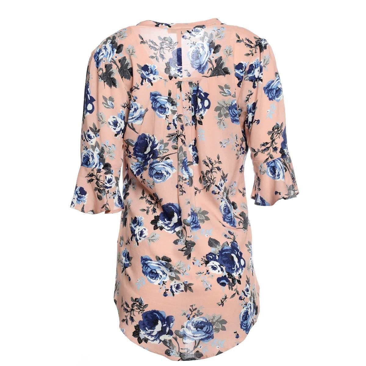 Blusa para Dama Rosa Estampada Ann Miller