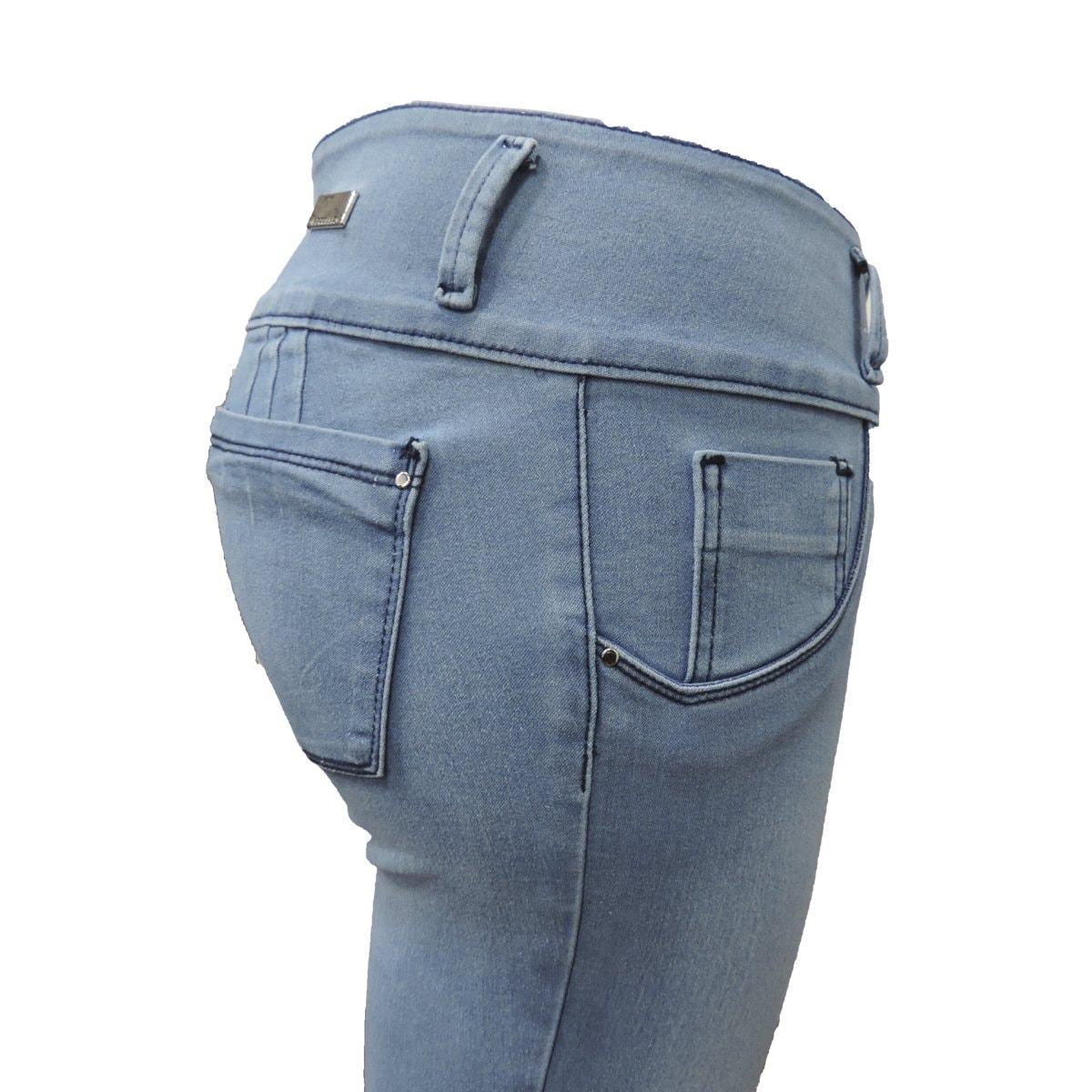 Jeans Skinny con Pretina Jeans Beronna para Dama