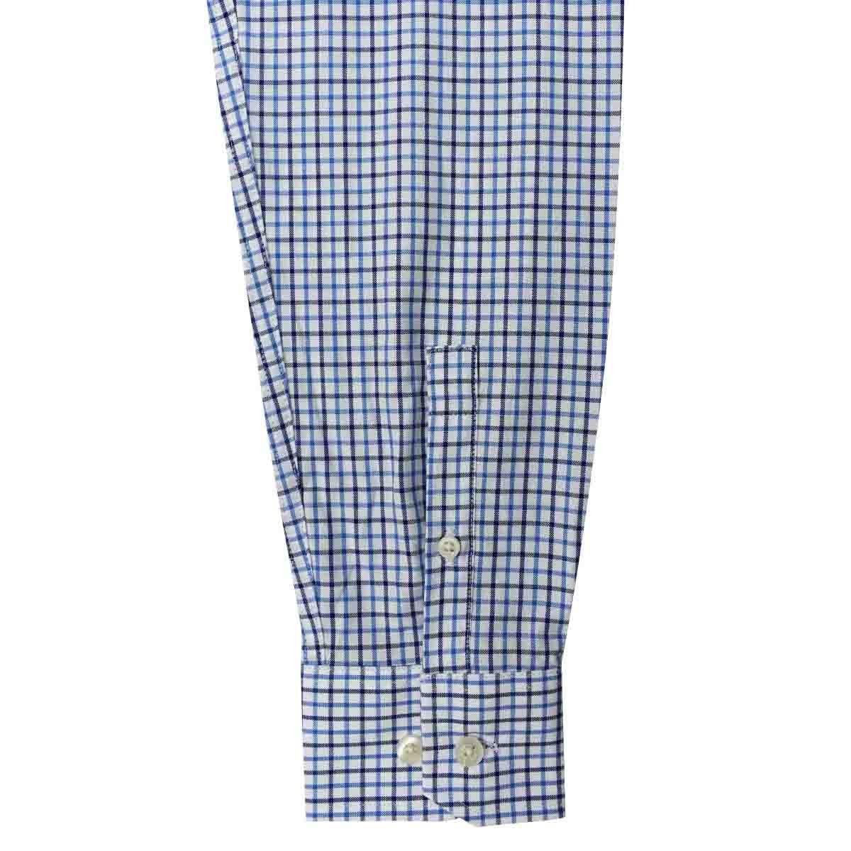 Camisa de Vestir Azul Combinado Corte Regular Nautica