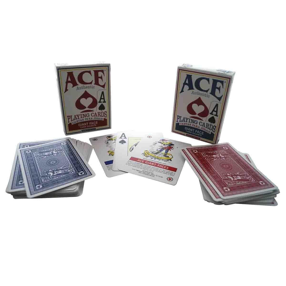 Baraja Póker Jumbo en Cartón Ace Kelvin