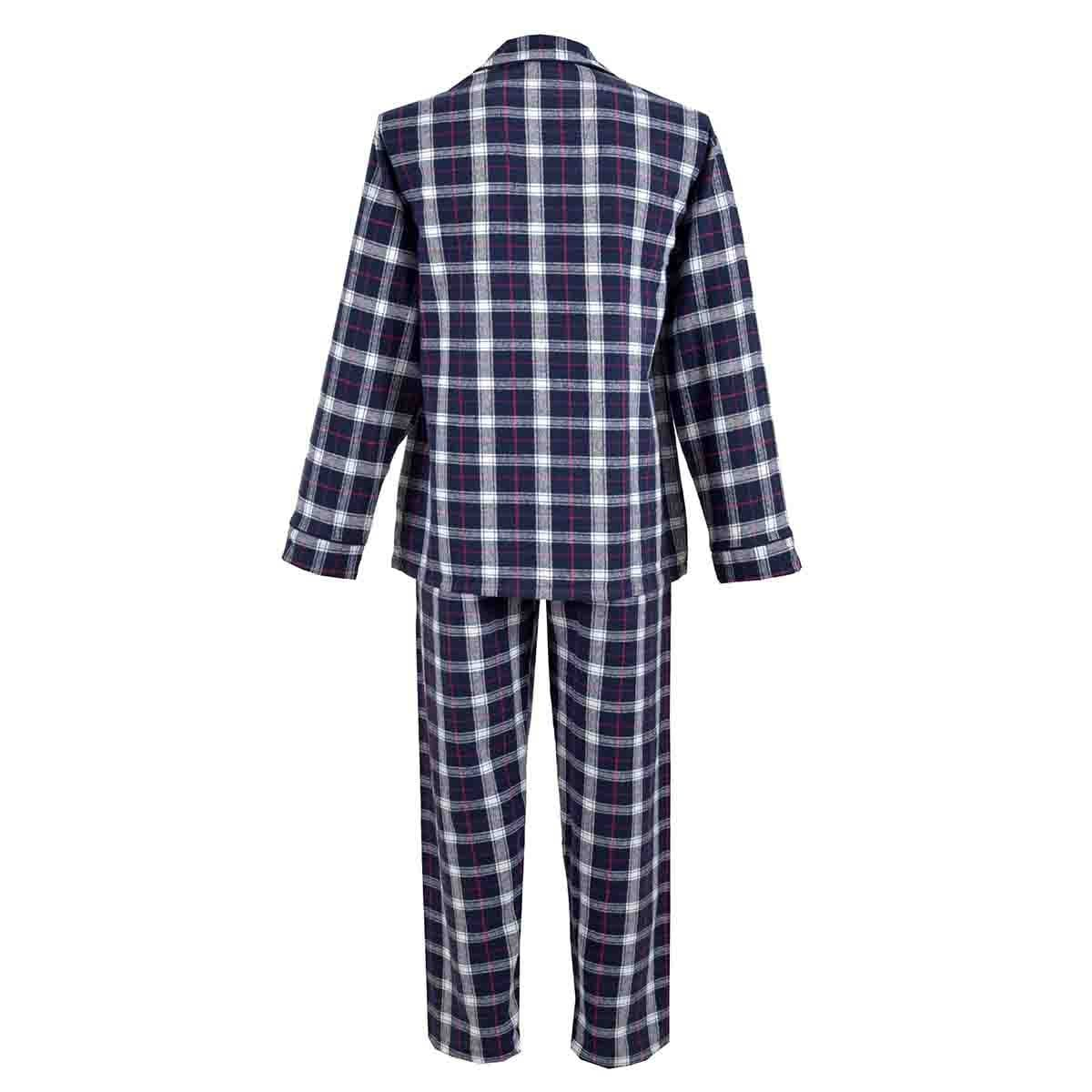 Pijama Manga Larga de Franela a Cuadros Carlo Corinto