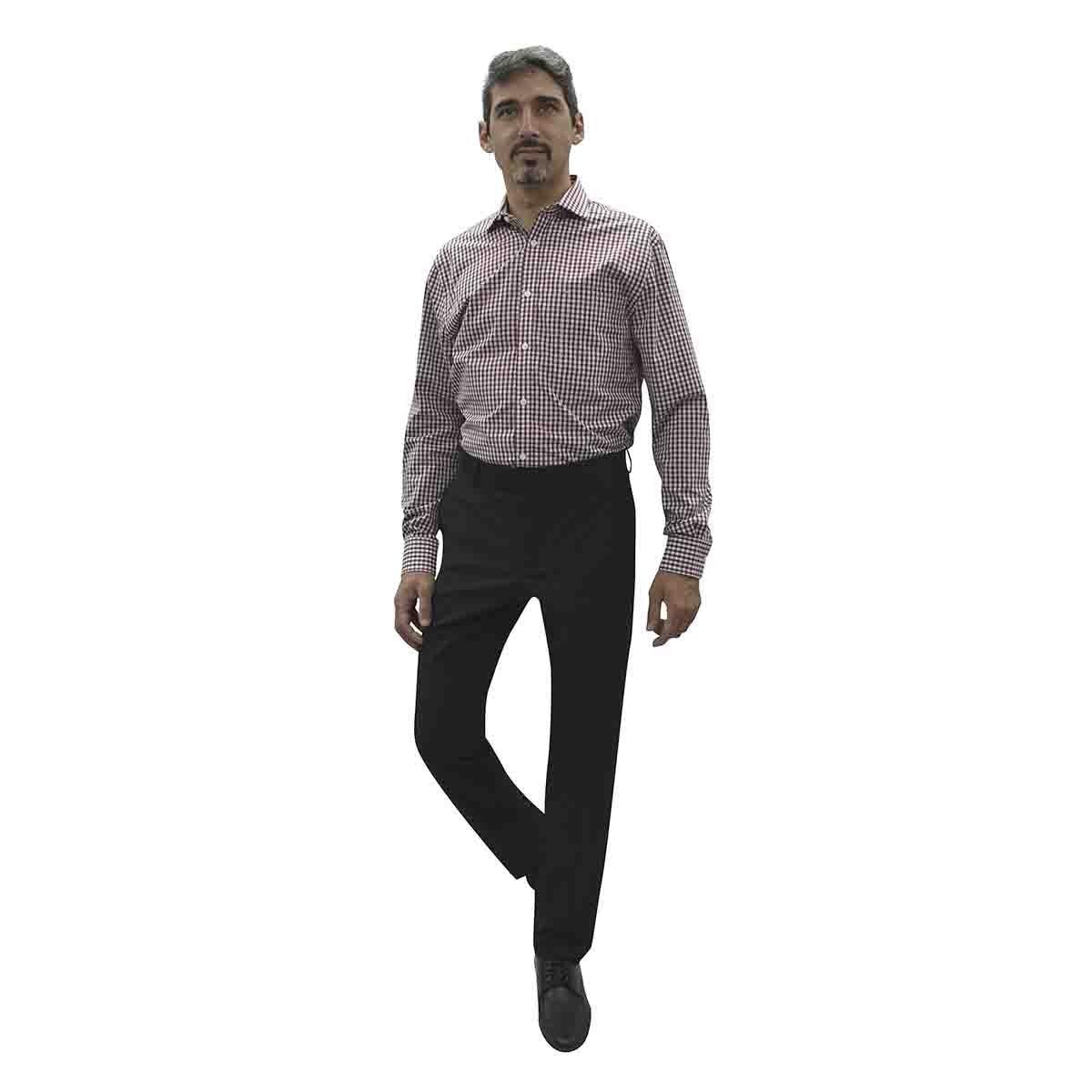 Camisa de Vestir Vino Corte Regular Tommy Hilfiger